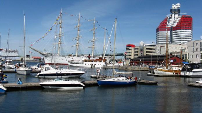 Göteborgs hamn vid Lilla Bommen