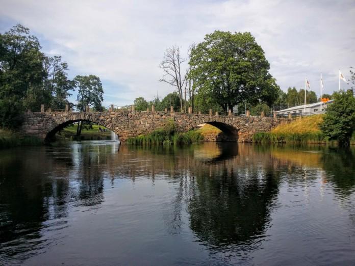 Den gamla stenbron över Ätran, i Svenljunga, Västergötland